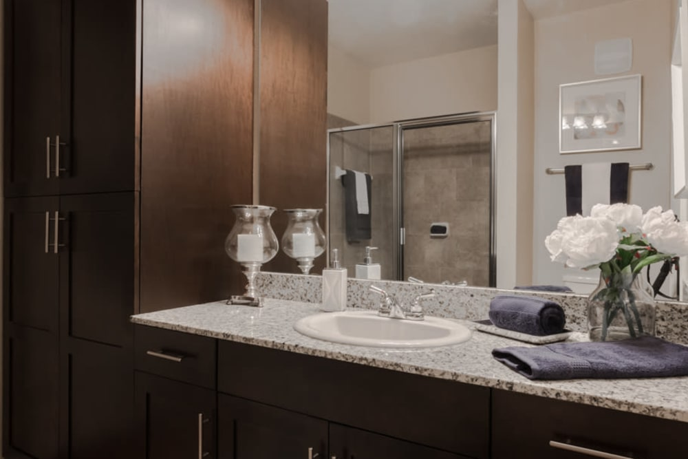 Clean bathroom at Integra Lakes in Casselberry, Florida