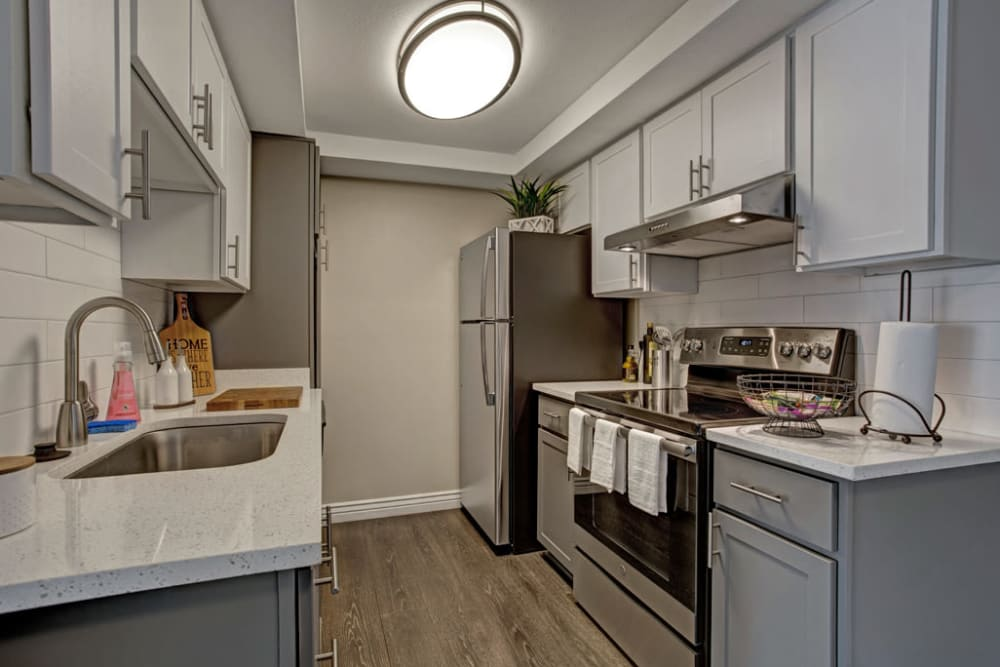 Stainless steel appliances at Avia McCormick Ranch Apartments in Scottsdale, Arizona