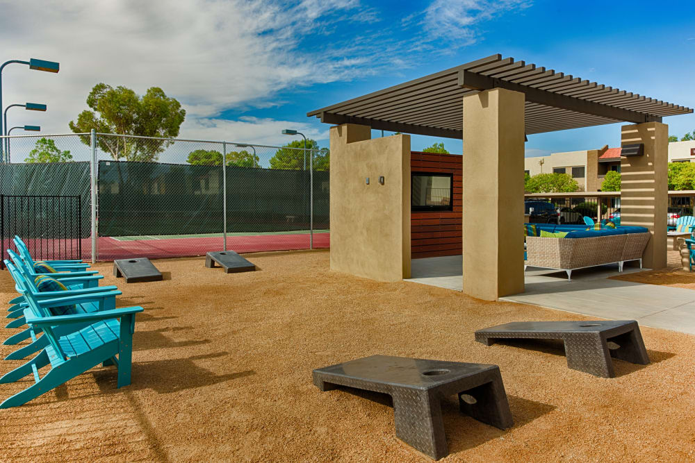 Outdoor games at Avia McCormick Ranch Apartments in Scottsdale, Arizona