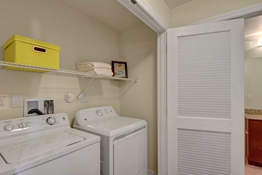 In-hone washer and dryer at Linden Pointe in Pompano Beach, Florida