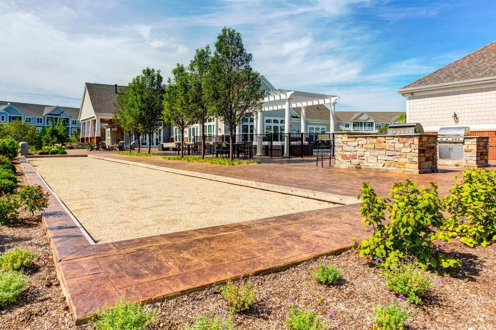 Lush landscaping at Northgate Crossing in Wheeling, Illinois