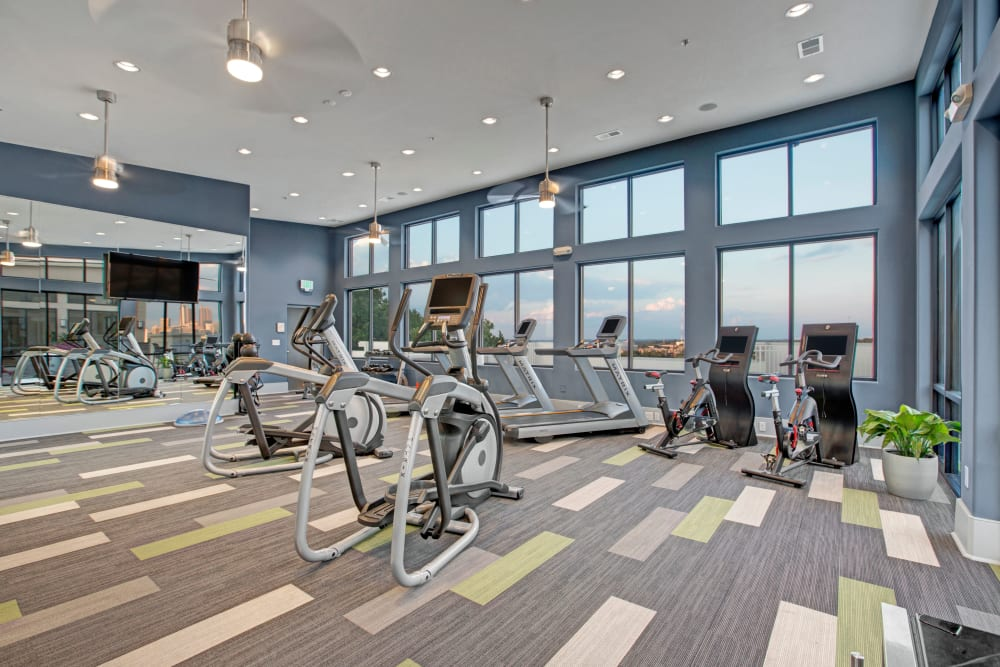 Fitness center at Mark at West Midtown in Atlanta, Georgia