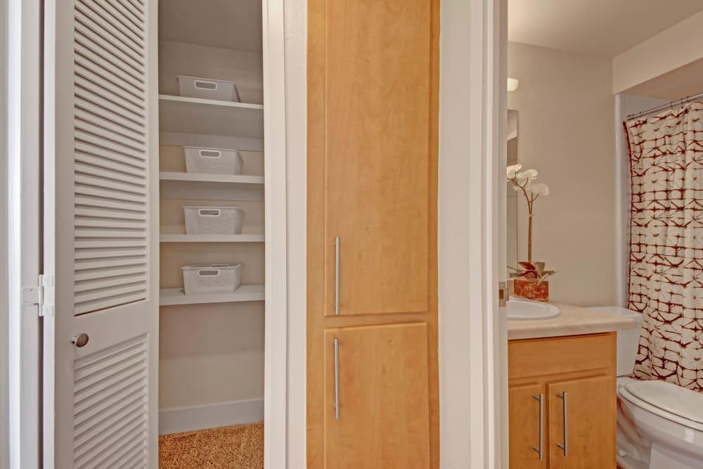 Spacious closet at Manor House in Dallas, Texas