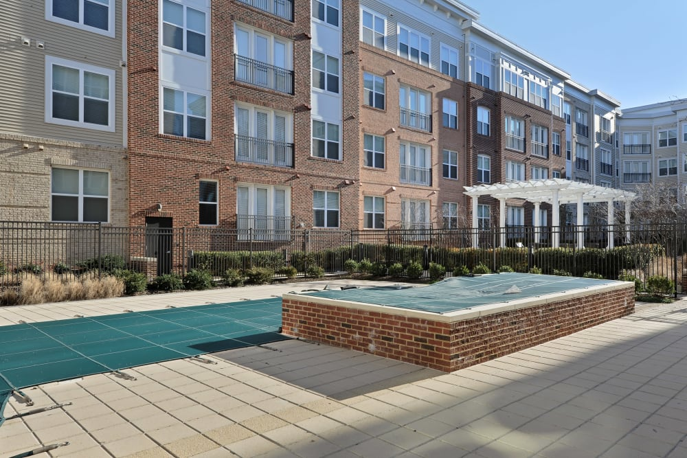 Poolside at The Mark at Brickyard Apartment Homes in Beltsville, Maryland.