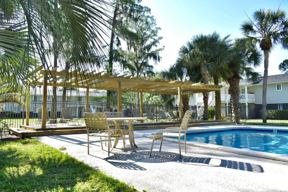 Outdoor pool at The Kendall in Brunswick, GA