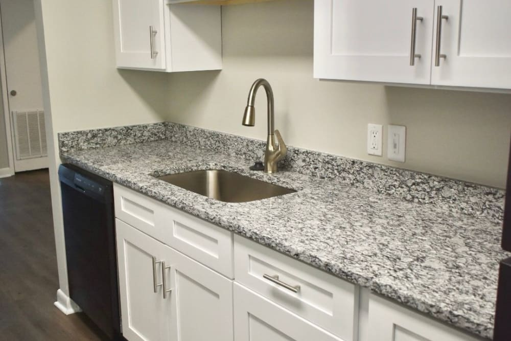 Kitchen at The Kendall Apartments in Brunswick, GA