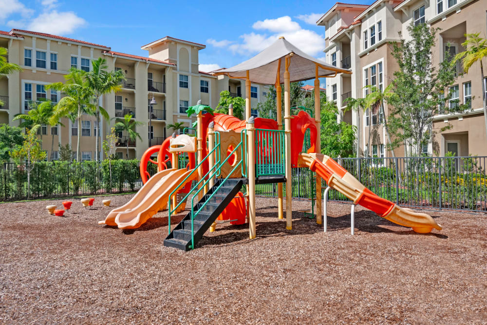 A children's playground at City Center on 7th Apartment Homes in Pembroke Pines, Florida