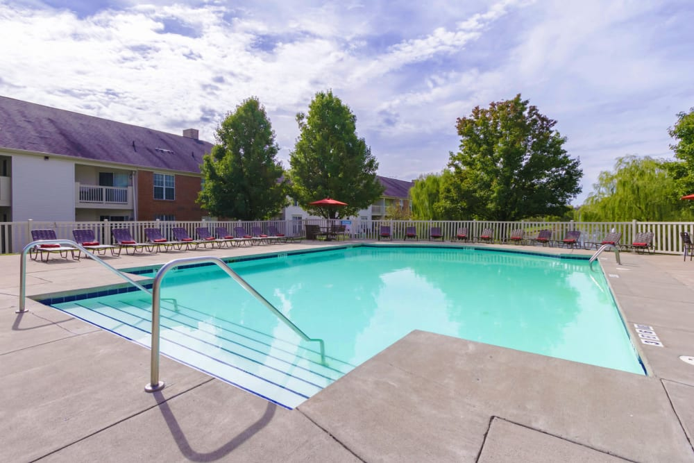 The community pool at Alexander Court in Reynoldsburg, Ohio