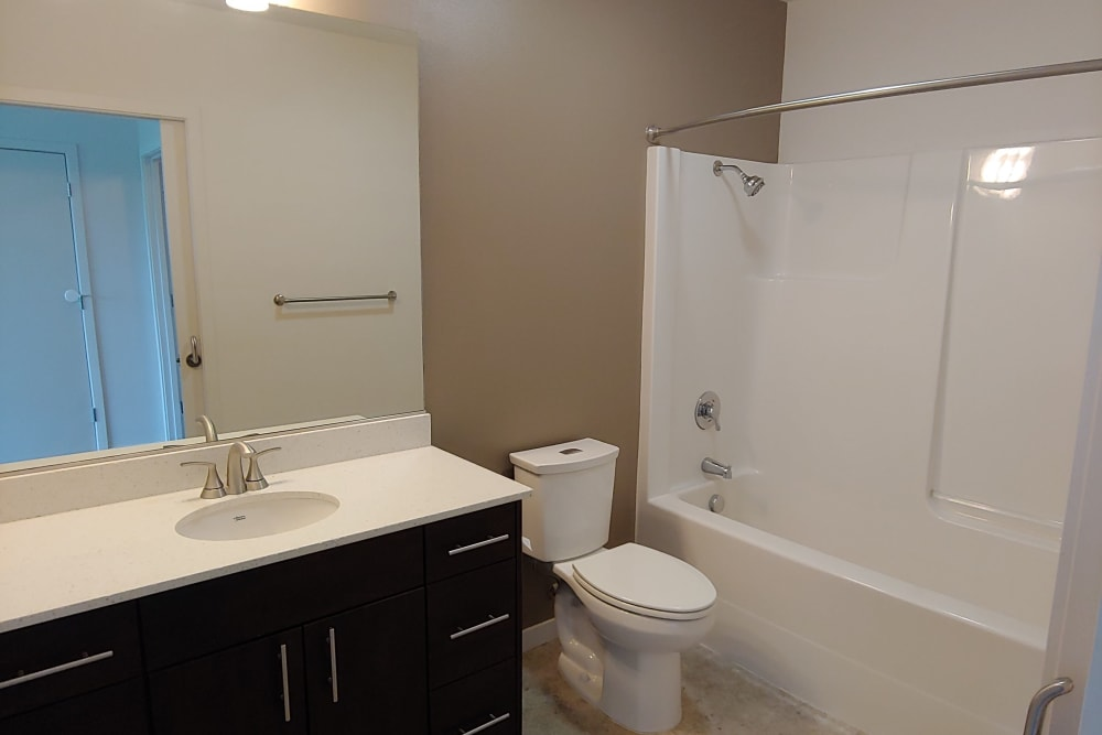 Bathroom at South Block Apartments in Salem, OR