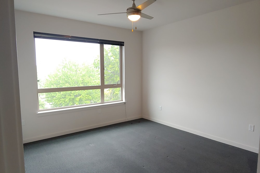 Spacious bedroom at South Block Apartments in Salem, OR