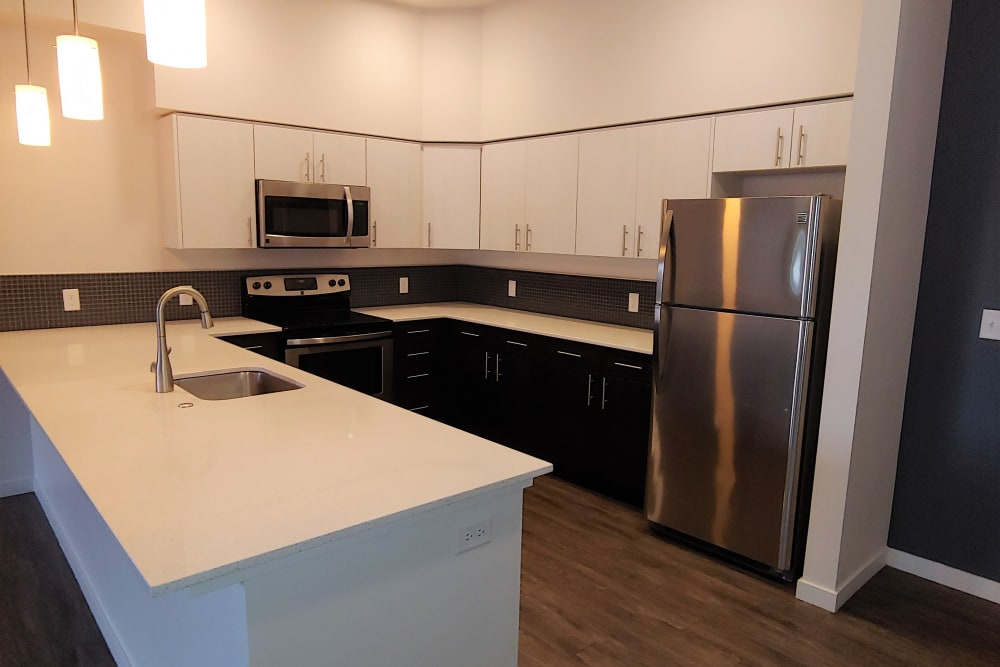 Spacious kitchen at South Block Apartments in Salem, OR