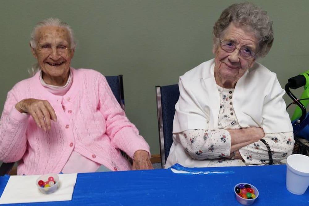 Residents enjoying a festive celebration at Prairie Meadows Senior Living in Kasson, Minnesota.