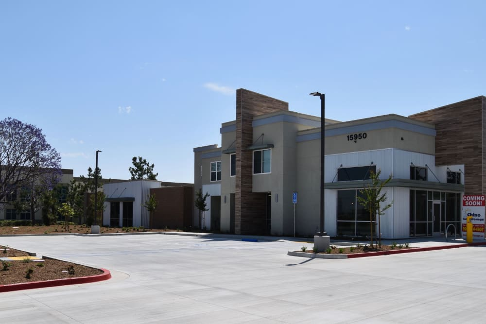 Front view of Chino Self Storage in Chino, CA