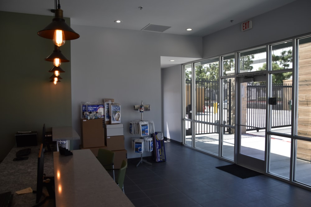 Office entryway at Chino Self Storage in Chino, CA