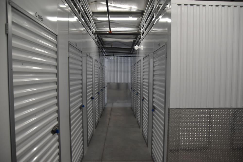Storage units inside at Chino Self Storage in Chino, CA