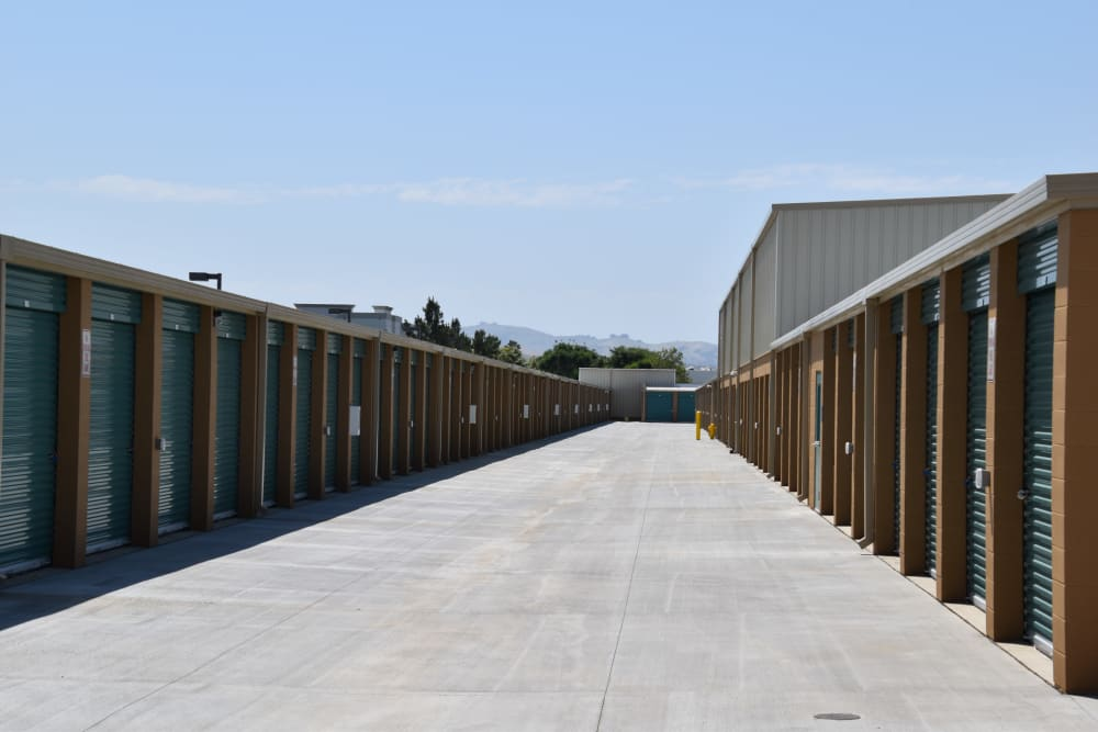 Units with outside access at Chino Self Storage in Chino, CA
