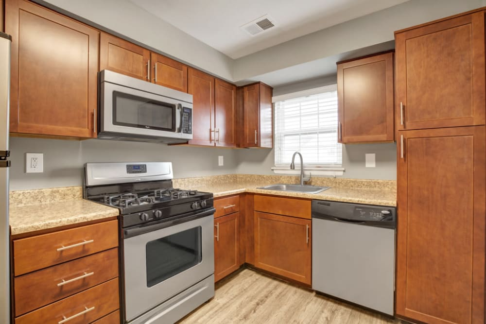 Nice cabinetry at Middlebrooke Apartments & Townhomes in Westminster, Maryland