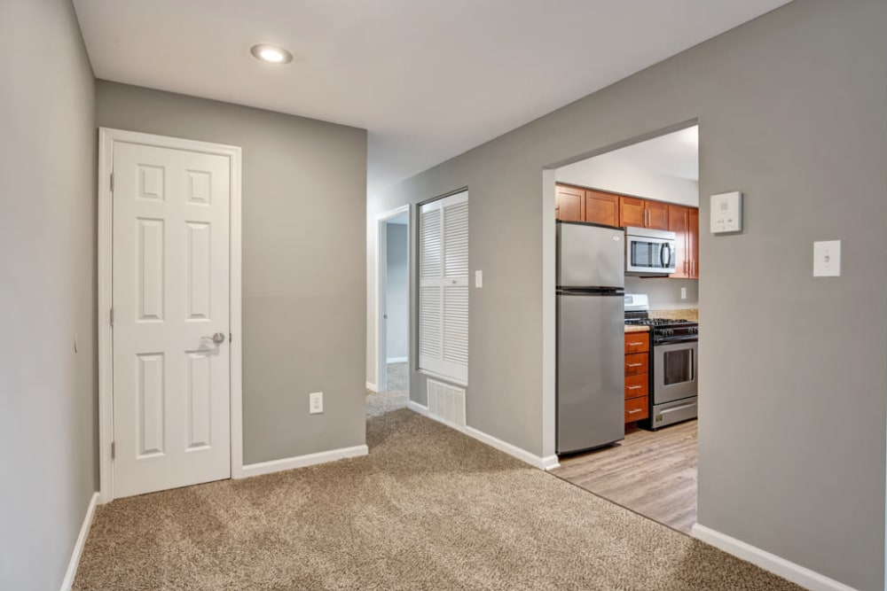 wide hallway at Middlebrooke Apartments & Townhomes in Westminster, Maryland