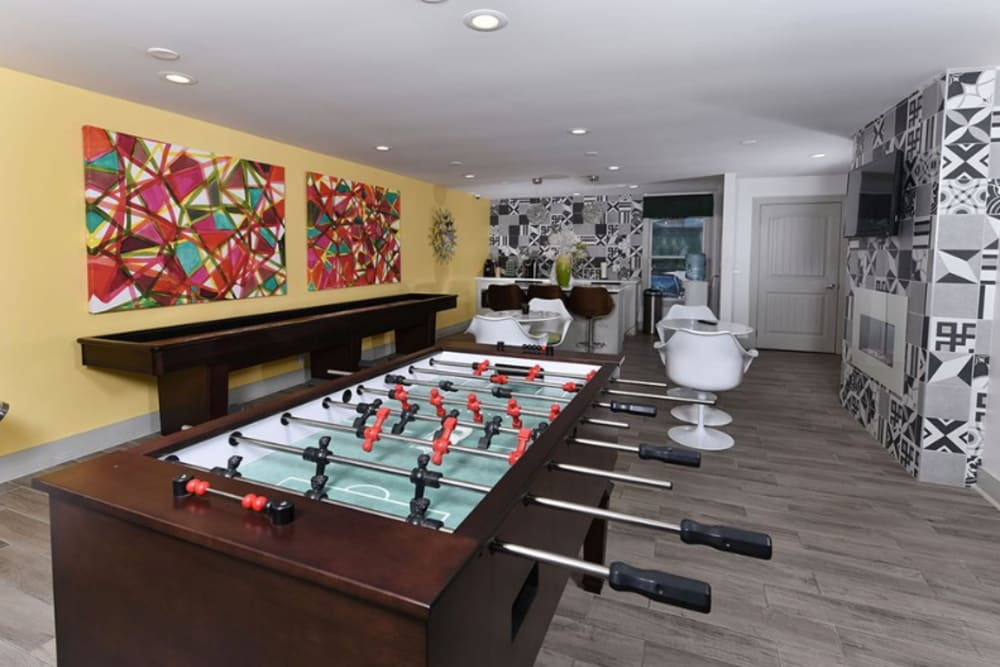 Foosball table in The Highland on Briley's clubhouse in Nashville, Tennessee