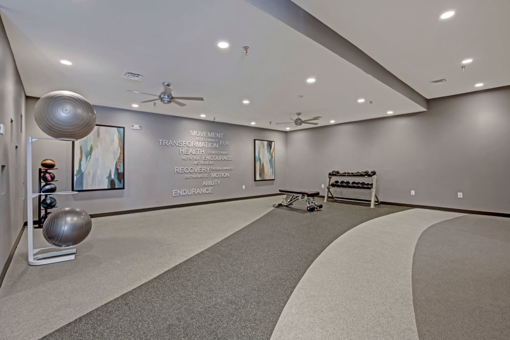 Yoga studio at The Gateway in Gaithersburg, Maryland