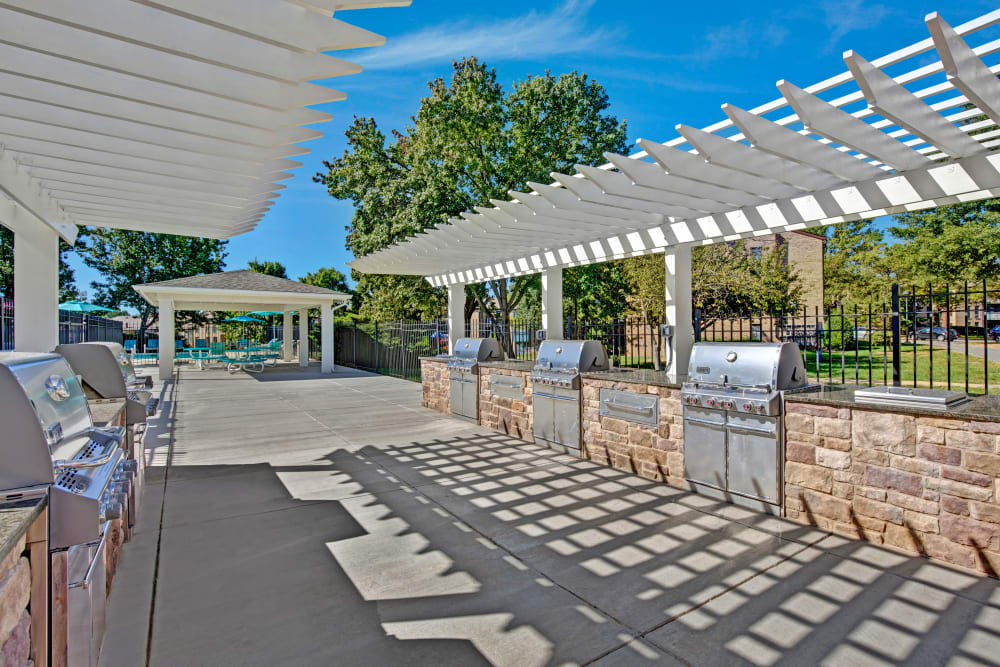 Outdoor grill area at The Gateway in Gaithersburg, Maryland