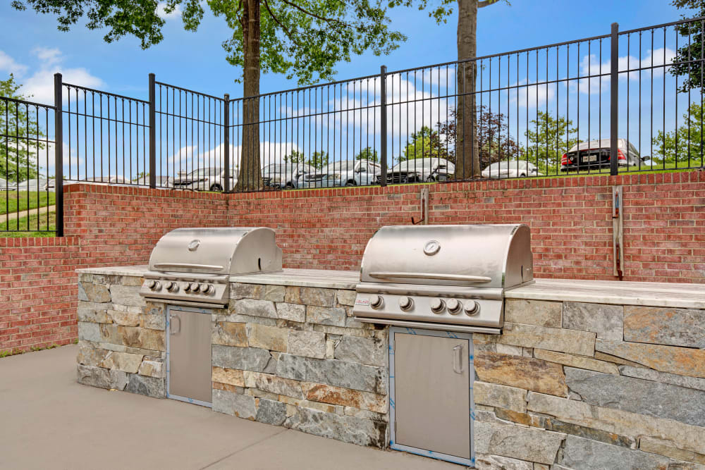 Outdoor grill station at Sussex at Kingstowne in Alexandria, Virginia