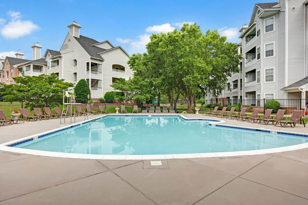 Sparkling, resort-style swimming pool at Sussex at Kingstowne in Alexandria, Virginia