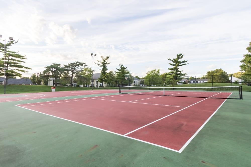 Tennis courts at Governours Square in Columbus, Ohio