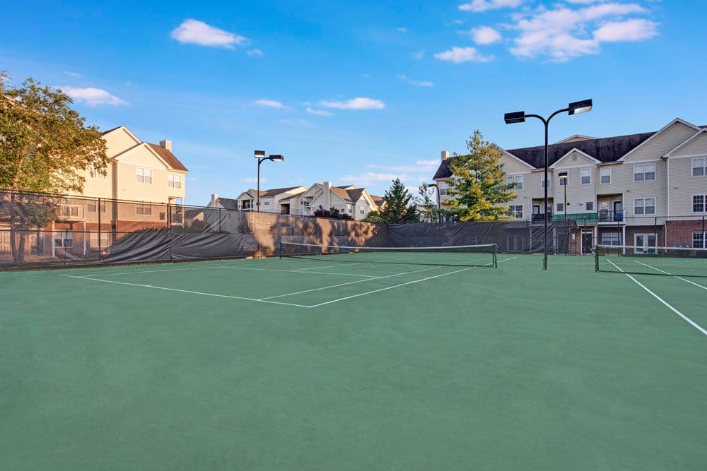 Tennis courts at Dulles Greene in Herndon, Virginia