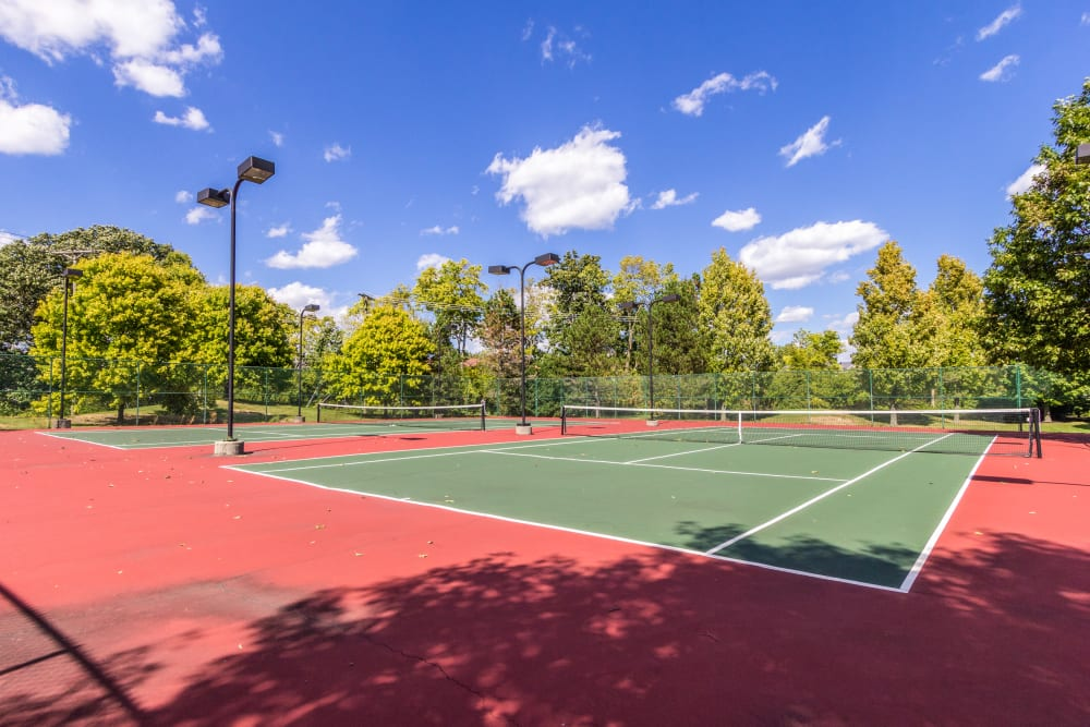 Tennis courts at Britton Woods in Dublin, Ohio