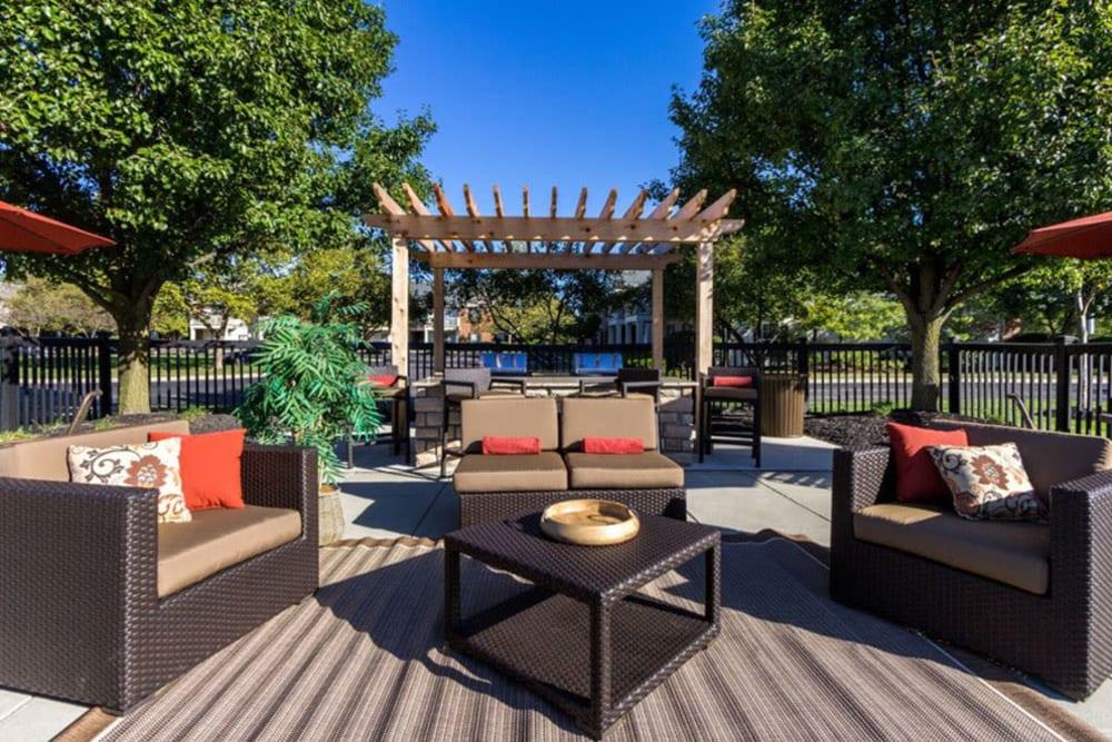 Beautiful sun deck at Heritage Green in Hilliard, Ohio