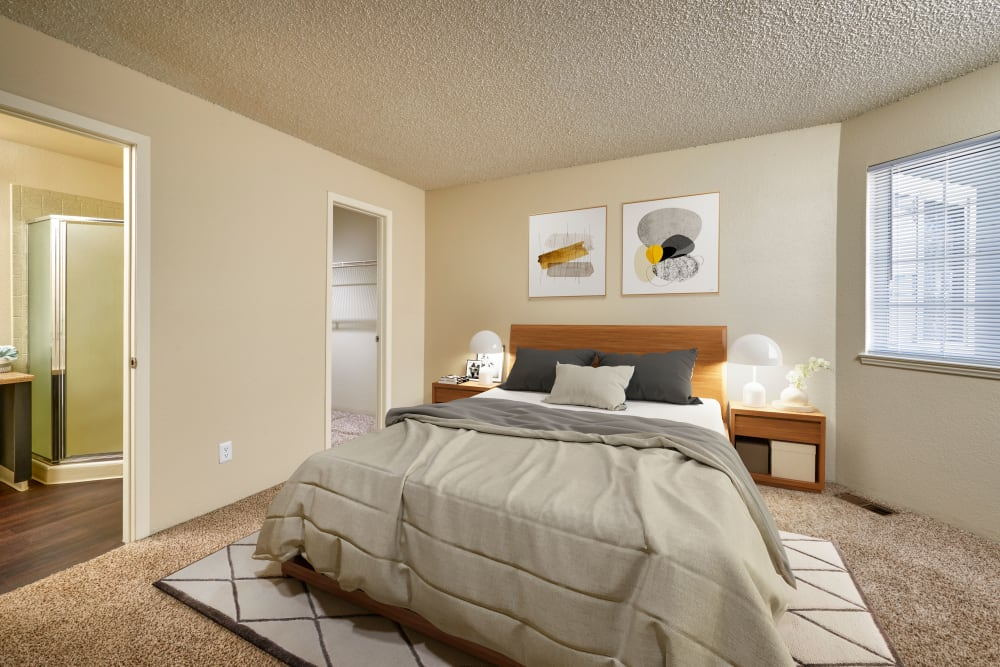A spacious bedroom at Bluesky Landing Apartments in Lakewood, Colorado