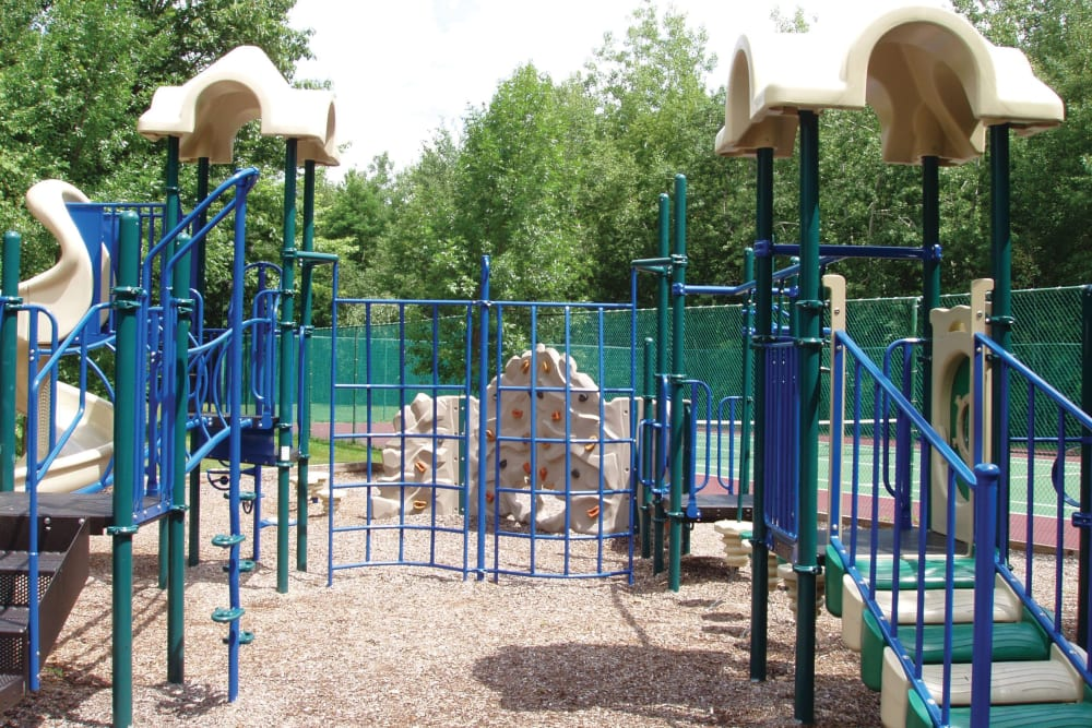 An onsite playground at The Commons At Haynes Farm in Shrewsbury, Massachusetts