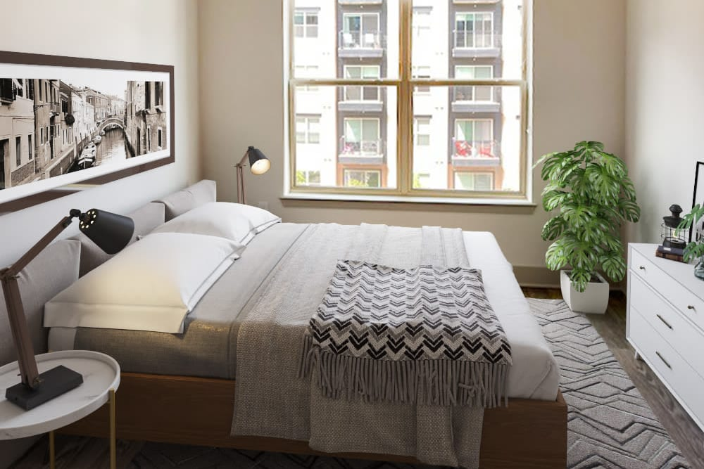 Alta Trinity Green in Dallas, Texas offers a bedroom