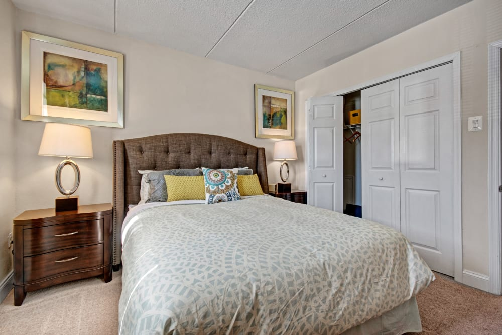 Bedroom at Golf Club Apartments in West Chester, Pennsylvania
