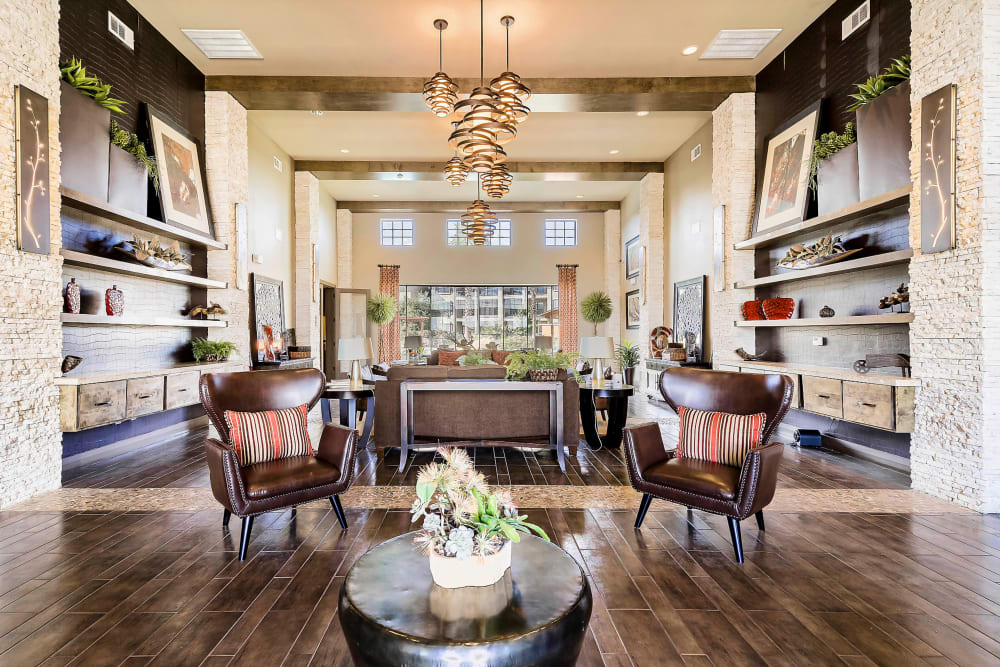 Lavish resident clubhouse interior at Sedona Ranch in Odessa, Texas
