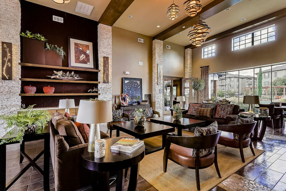 Extravagantly furnished resident clubhouse at Sedona Ranch in Odessa, Texas