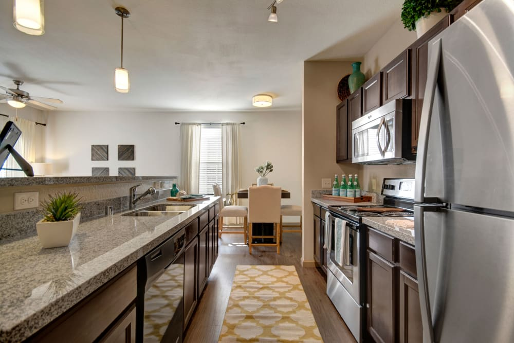 Fully equipped kitchen at Creekside South in Wylie, Texas