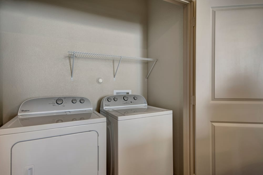 In-home washer and dryer at Creekside South in Wylie, Texas