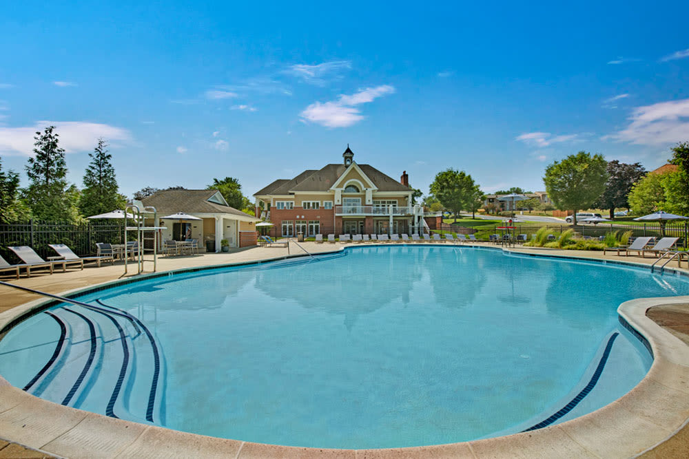 Sparkling swimming pool at Howard Crossing in Ellicott City, Maryland