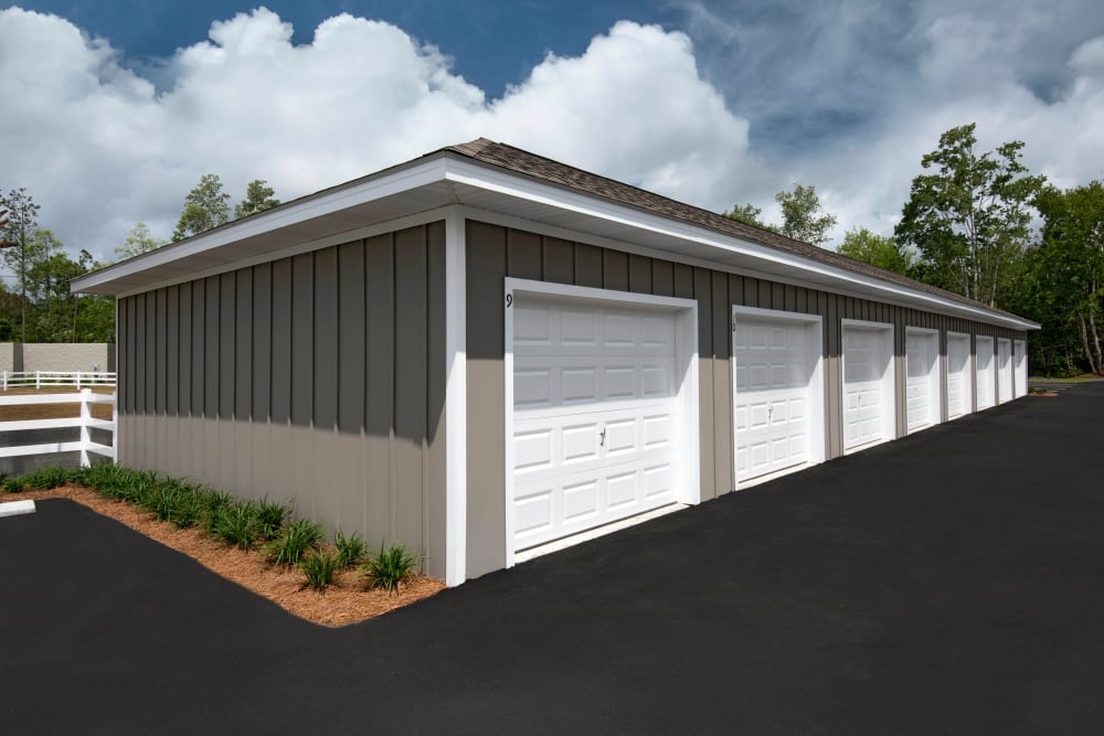 Private garages available at The Enclave in Brunswick, Georgia
