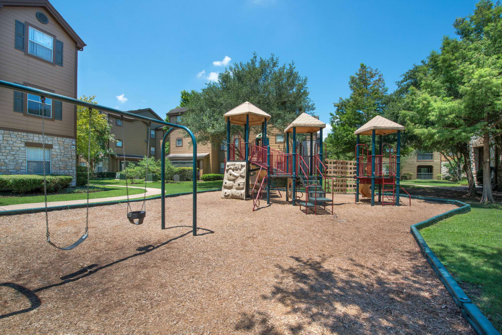 Expansive onsite children's playground at The Ranch at Shadow Lake in Houston, Texas