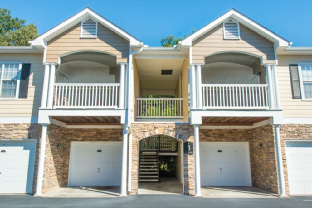 Private garages available at Walden at Chatham Center in Savannah, Georgia