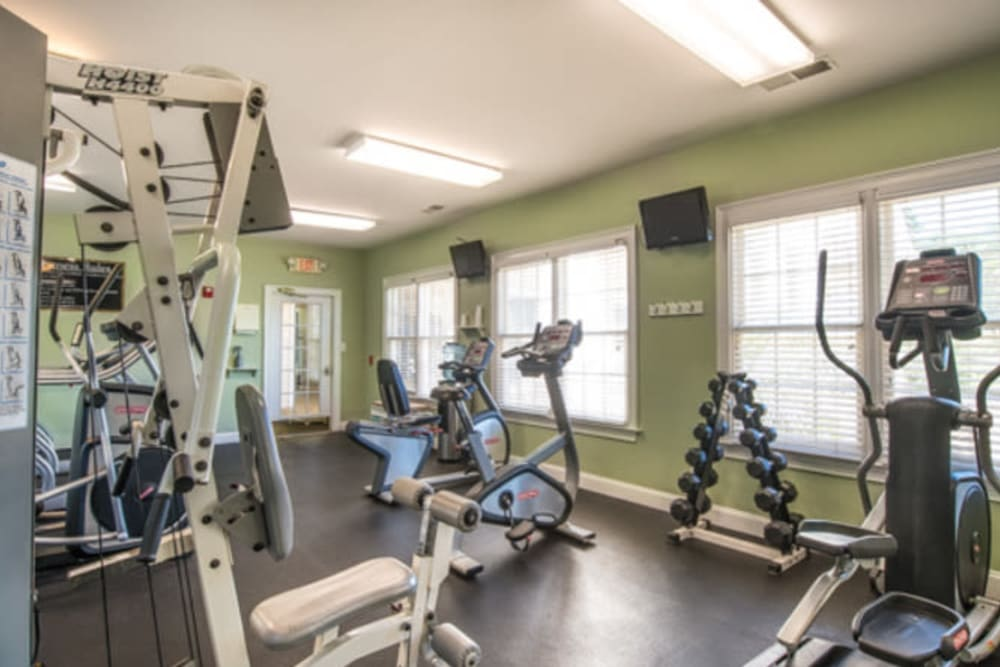 Onsite fitness center at Walden at Chatham Center in Savannah, Georgia