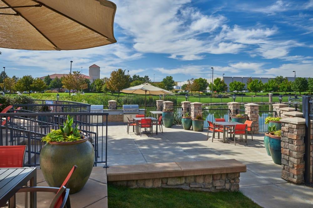 Barbecue area at Gateway Park Apartments in Denver, Colorado