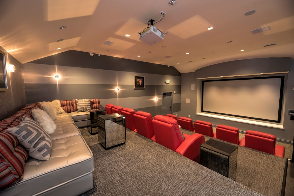 Large community theater at Shadow Ridge Apartment Homes in Simi Valley, California