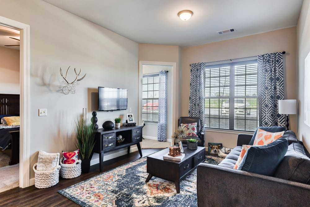 Living Room at Boulders at Overland Park Apartments in Overland Park, Kansas