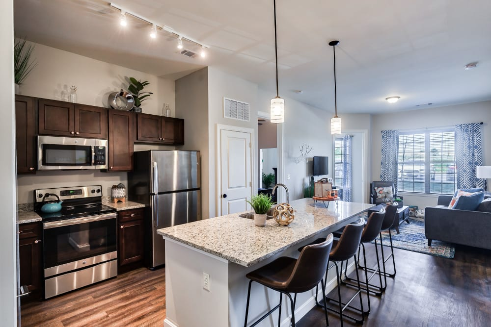 Kitchen at Boulders at Overland Park Apartments in Overland Park, Kansas