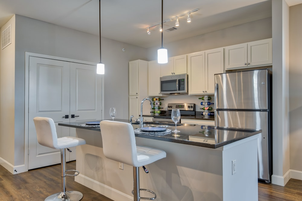 Beautiful Kitchen at Boulders at Overland Park Apartments in Overland Park, Kansas