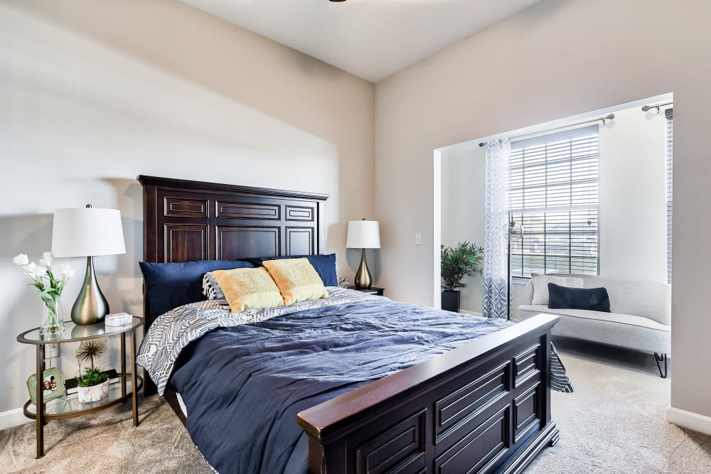 Bedroom at Boulders at Overland Park Apartments in Overland Park, Kansas